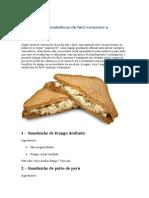 3 Sanduíches Anabólicos de Fácil Consumo e Transporte