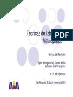 Técnicas de Laboratorio Metalográfico