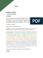 Estrutura de Projeto TCC - Música UEPG