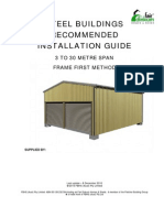 Steel Buildings Recommended Installation Guide Frame First Web