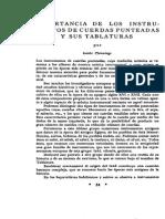 Importancia de Los Instrumentos Punteados y Las Tablaturas