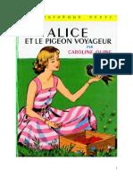 Alice Et Le Pigeon Voyageur
