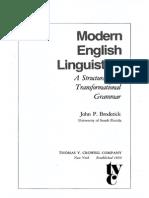 En - Grammar -Modern English Linguistics a Structural and Transformational Grammar