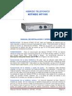 Manual Kithec Ht100