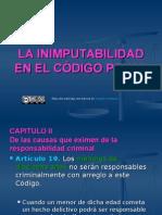 Inimputabilidad en El Cdigo Penal