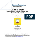 How to be Calm at Work