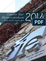 2014 Career Fair Memodandum