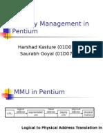 Memory Management in Pentium