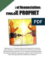 Prayers of Renunciation FALSE PROPHET