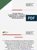 Elaboración de manuales de normas y procedimientos