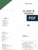 Enrico Berti - As Razões de Aristóteles