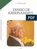 Diário de Krishnamurti - Jiddu Krishnamurti