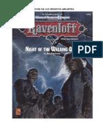 Dungeons & Dragons Librojuego - Ravenloft La Noche de Los Muertos Andantes