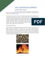 Cambios Físicos Y Químicos de La Materia