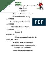 Manual Básico de Mysql