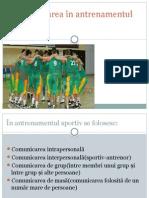 Comunicarea În Antrenamentul Sportiv
