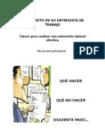 Tenga Éxito en Su Entrevista de Trabajo Manual Del Participante