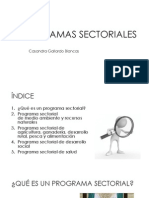 Programas Sectoriales - PDF