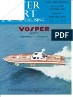 Vospers Water Sport 1962 Magazine Article