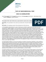 Wisconsin MGM Bill (2014)