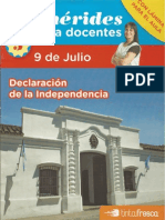 Efemérides Para Docentes - Tinta Fresca - 9 de Julio - 2011