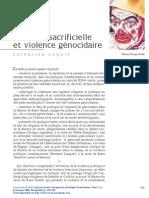 Coquio Catherine Violence Sacrificielle Et Violence Génocidaire