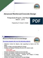 M.sc. Program Advanced Reinforced Concrete Design (Course Book)
