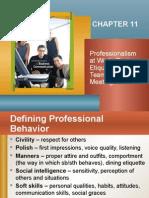 Defining Professional Behaviour