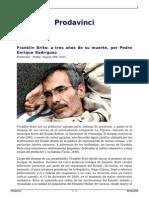 El Caso de Franklin Brito a Tres Años de Su Muerte Por Pedro Enrique Rodriguez