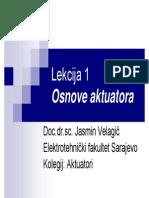 Osnove aktuatora - Lekcija1