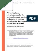 Tecnologias de Desplazamiento de Poblaciones en Contextos Urban..