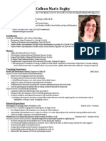 colleen begley resume  2015