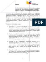 Convenio Senescyt - Ministerio de Educacion