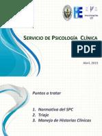 Presentación Servicio de Psicologia Clínica