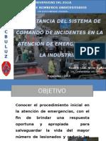 Importancia Del Sistema de Comando de Incidentes Aplicado a La Industria