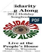 Solidarity Sing Along Songbook, Holiday 2012 edition