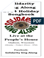 Solidarity Sing Along Songbook, Holiday 2014 edition