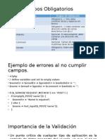 PHP – Campos Obligatorios
