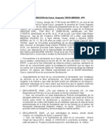 Caso Oro Declaracion de Cesar Augusto Tapia Medina