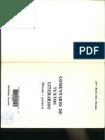 Díez Borque, J. M, Comentario de Textos Literarios (Métrica y Figuras Retóricas)
