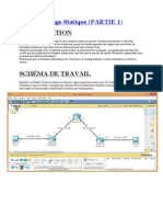 TP Routage Statique Packet Tracer