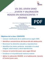 2015control Joven Sano La Entrevista y Valoración Headss en Adolescentes y