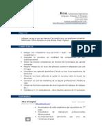 Modèle CV (Bleu Foncé)
