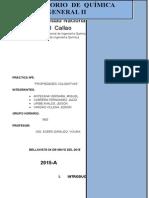 Informe Nº5 de General II (Propiedades Coligativas)