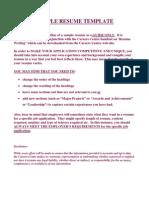 Sample Detailed Resume