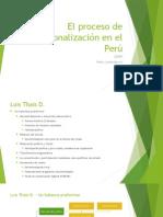 El Proceso de Regionalización en El Perú