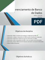 Gerenciamento de Banco de Dadoss