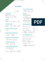 Sumary of Stat Formulas