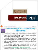 Balancing of Rotating Masses