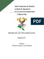 Practica IV Introduccion a las telecomunicaciones